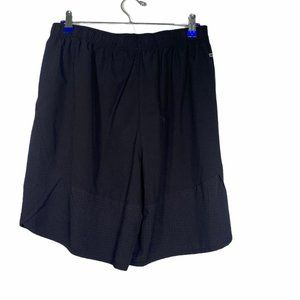 Black Athletic Active Running Workout Shorts L